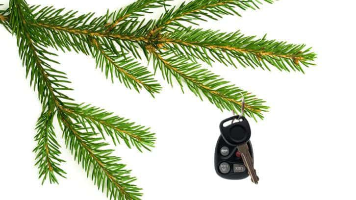 car keys on xmas tree-gift of designated driver